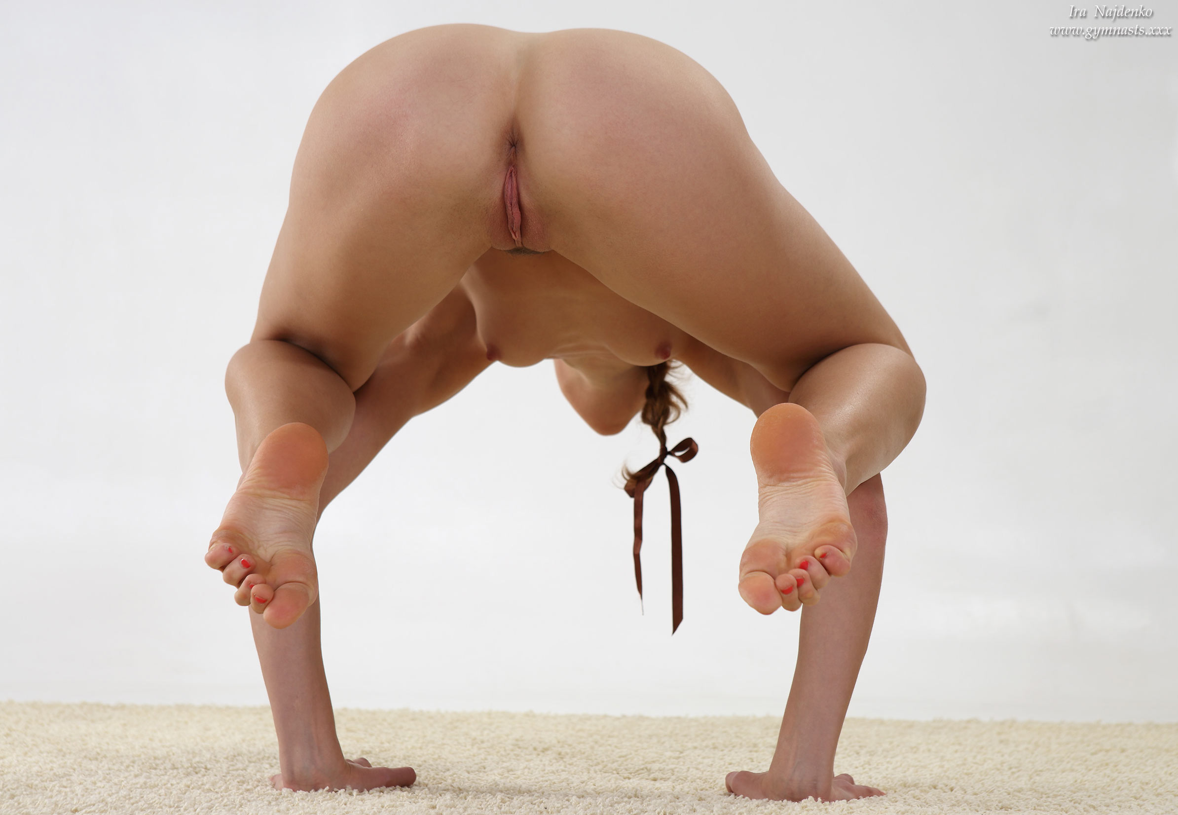 Her Yoga topless erotic